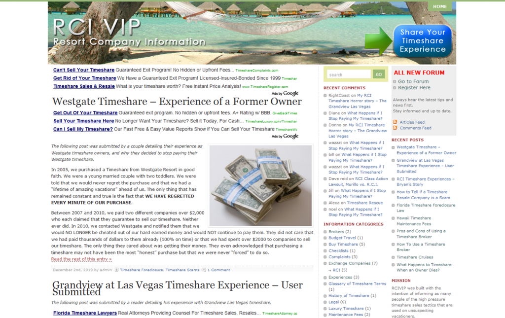 RCIVIP – Timeshare Help Resource