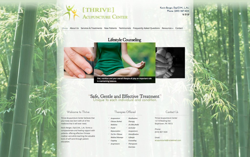 Custom Acupuncture Web Design, Websites for Acupuncturists